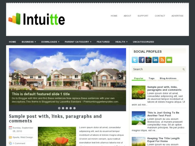 Intuitte Blogger Template