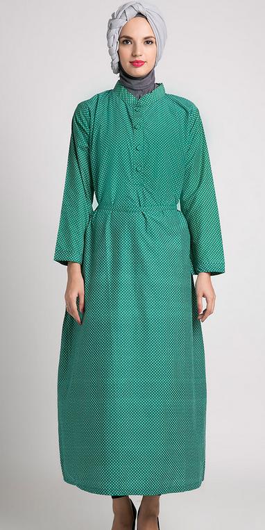 Desain Baju Muslim Gamis bagi Orang Gemuk