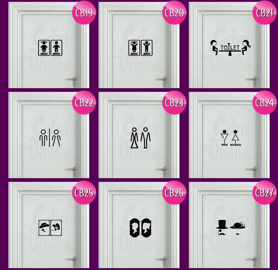 Vinilos decorativos cartel puerta de ba o cdm vinilos decorativos y publicitarios - Cartel bano ...