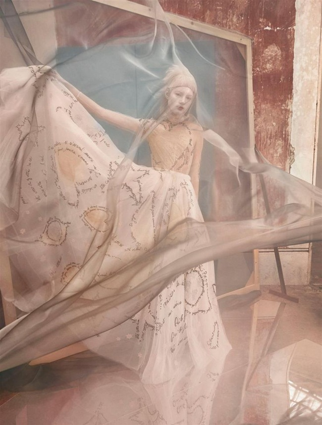Valentino Couture Spring 2015 Love Words Dress Editorials