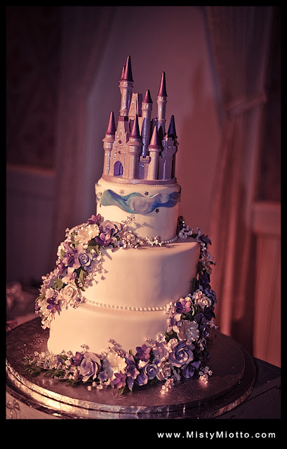 Walt Disney World Wedding Cake with Castle