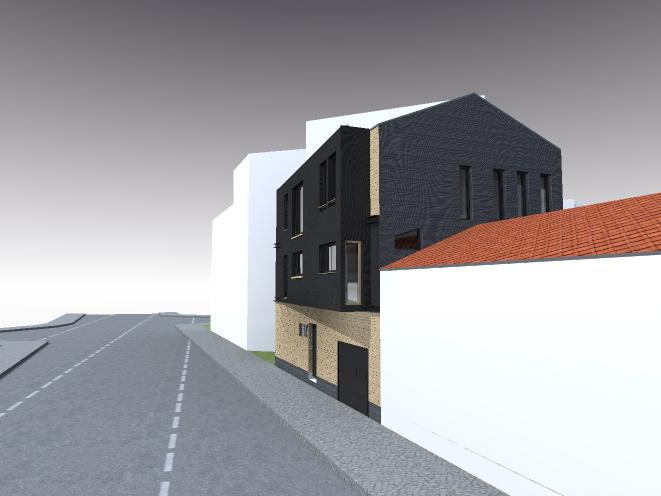sur l vation d 39 une maison arcueil esquisse architecte maison bois paris alsace. Black Bedroom Furniture Sets. Home Design Ideas