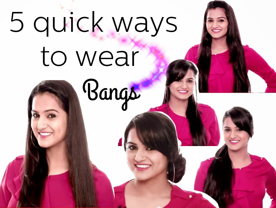 different ways to wear your bangs different ways to wear