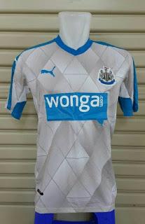 gambar detail photo kamera Jersey Newcastle away terbaru musim depan 2015/2016