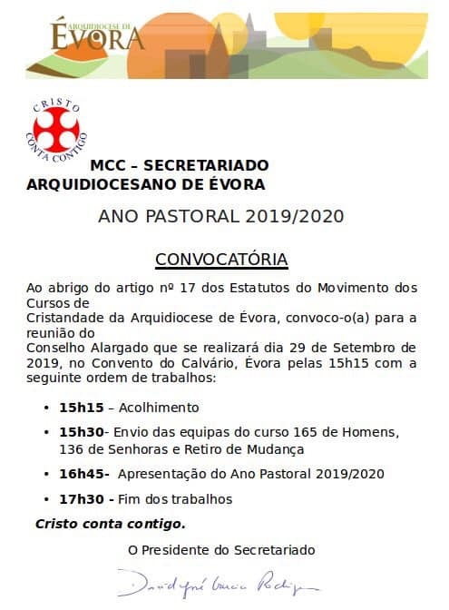 ANO PASTORAL 2019 /2020