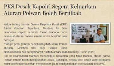 PKS Desak Kapolri Segera Keluarkan Aturan Polwan Boleh Berjilbab