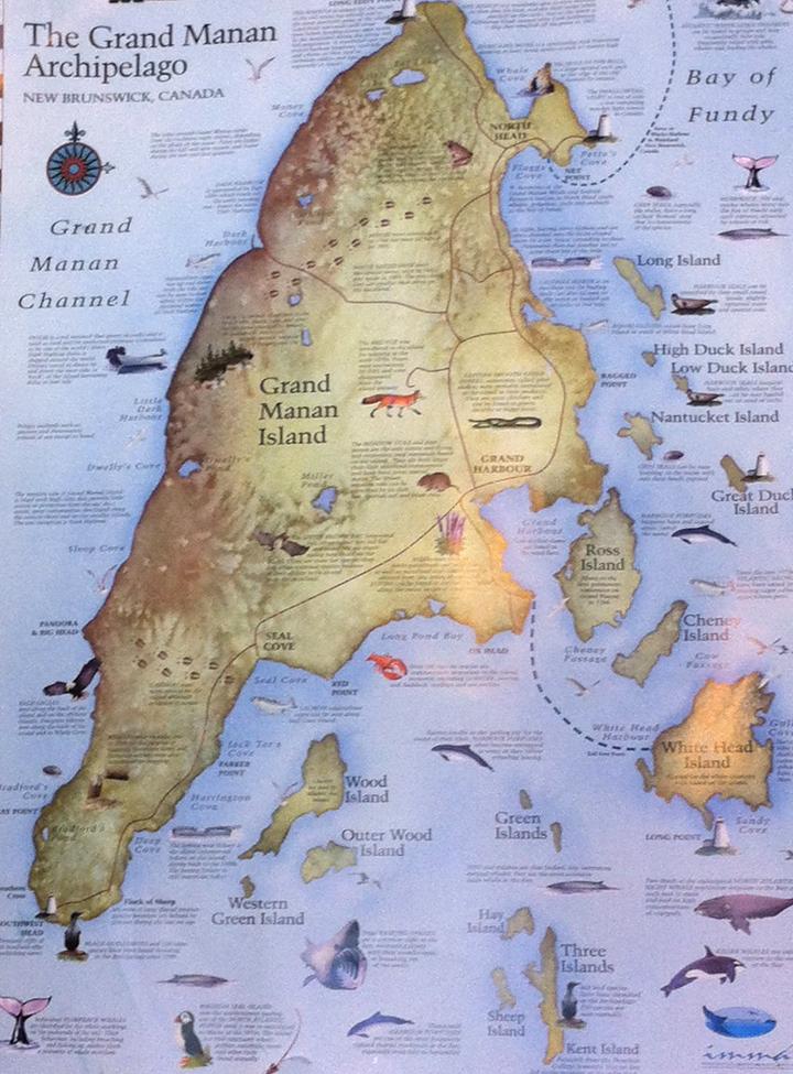 Map Of Grand Manan Island New Brunswick