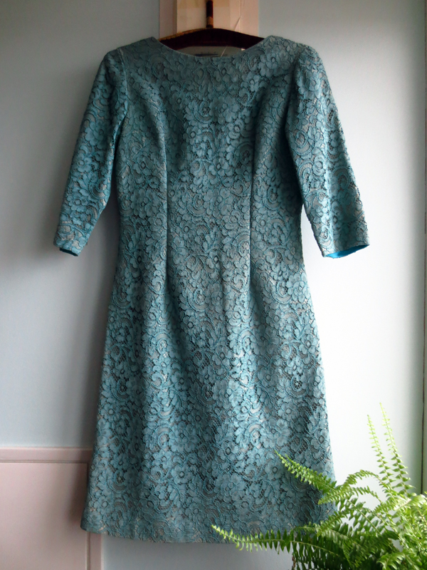 Vintage klänning Bengtsons dimgrön spets