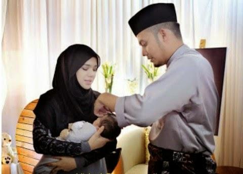 Foto foto majlis aqiqah anak Diana Amir yang meriah