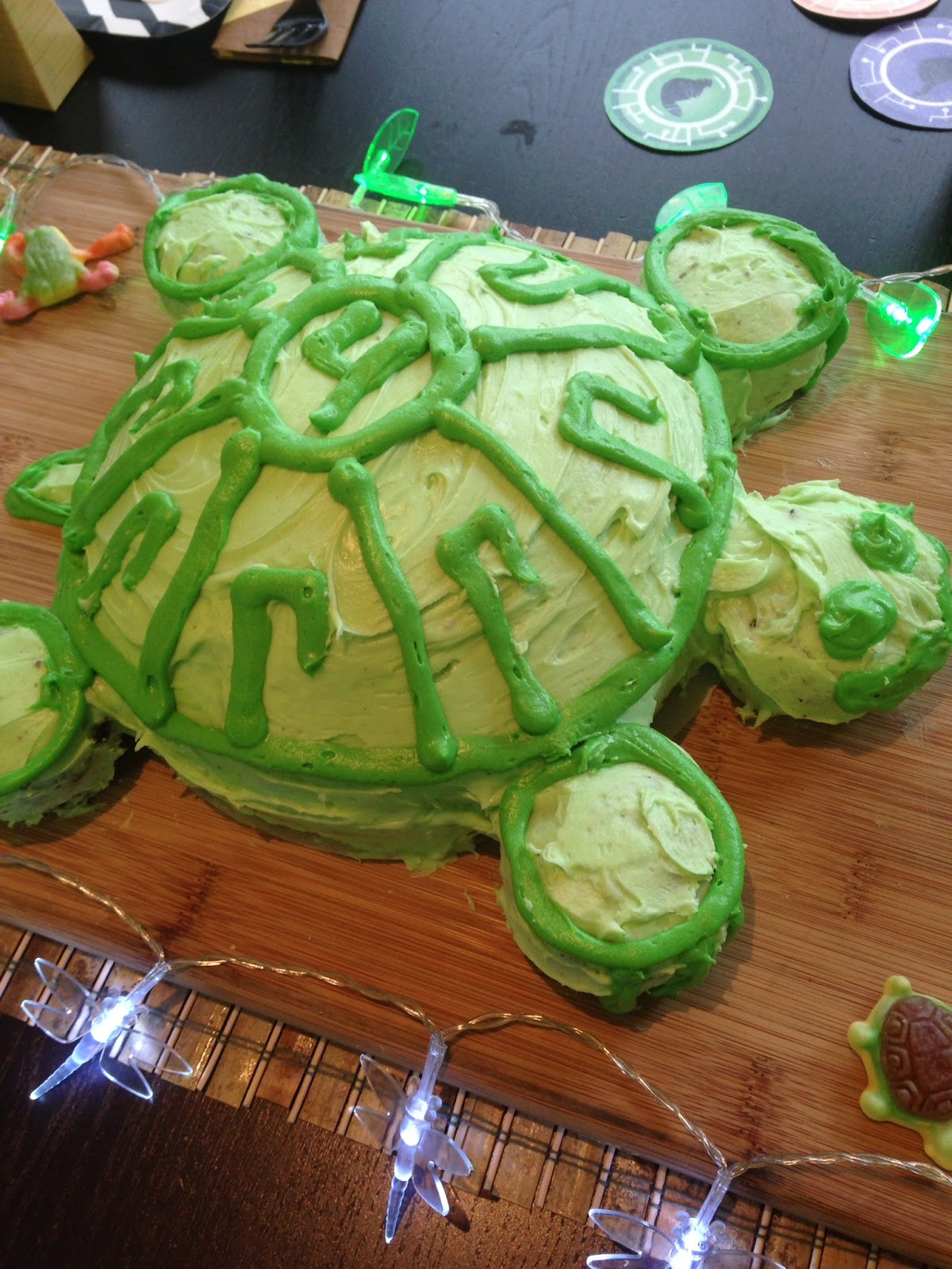 Tortuga Cake tutorial, Turtle cake tutorial, Wild Kratts birthday party