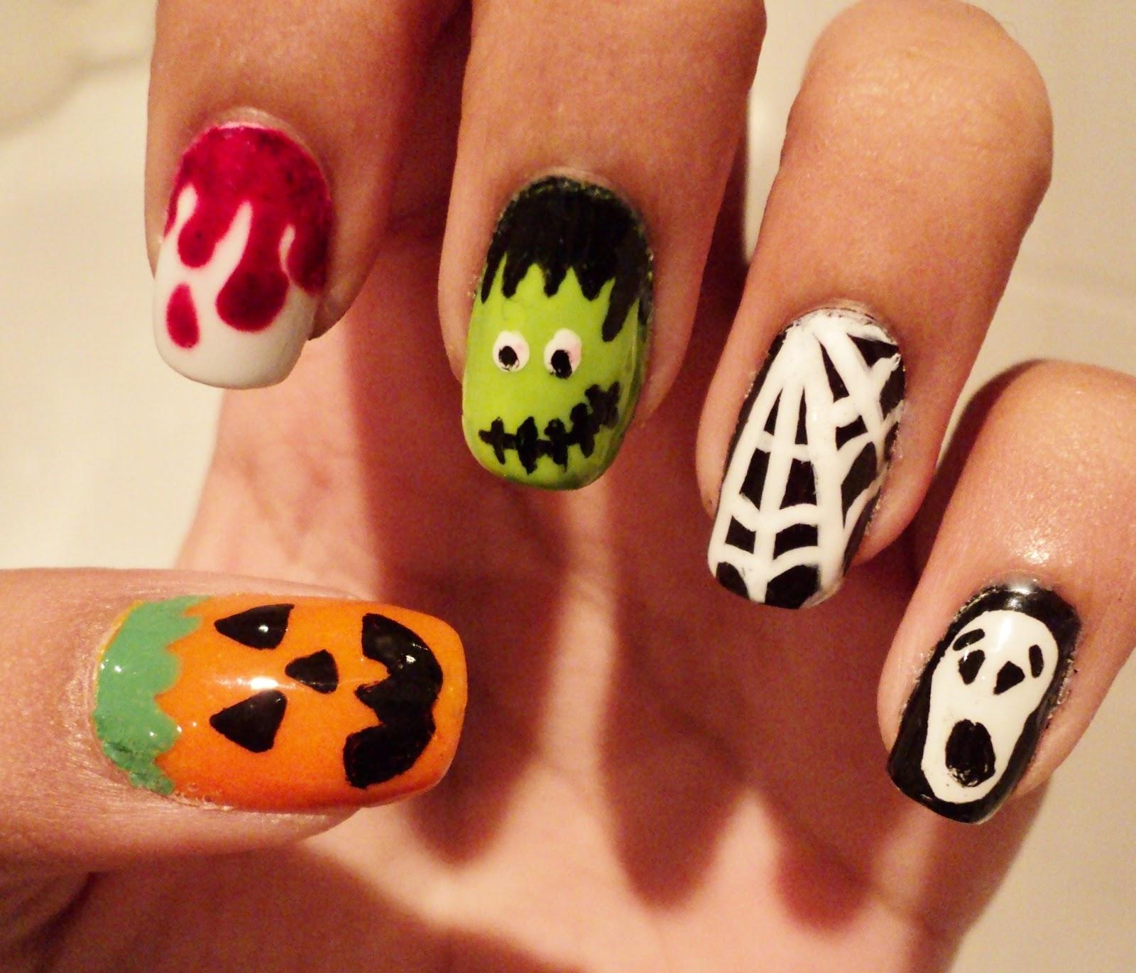 Diva's Diary: Halloween Nail Art!