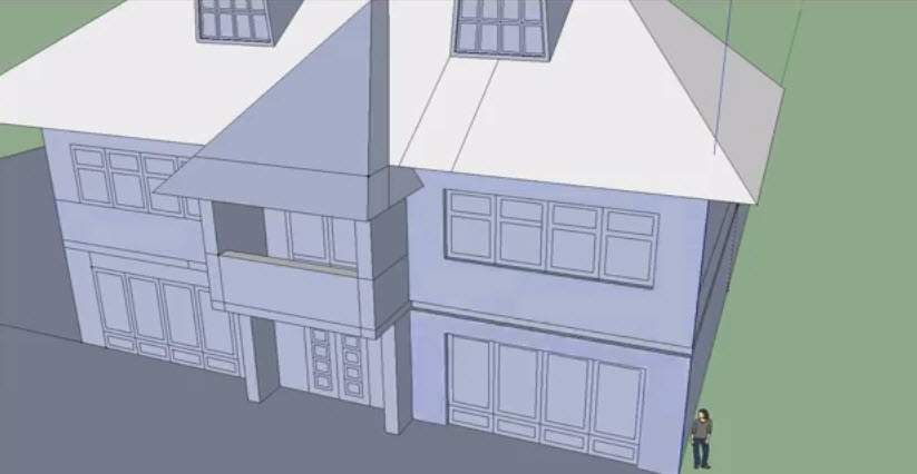 how to draw a house in sketchup