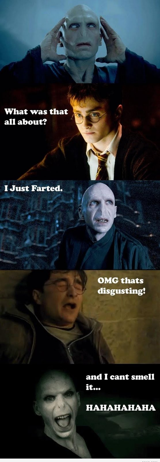 Voldemort have nose advantage to kill the harry potter