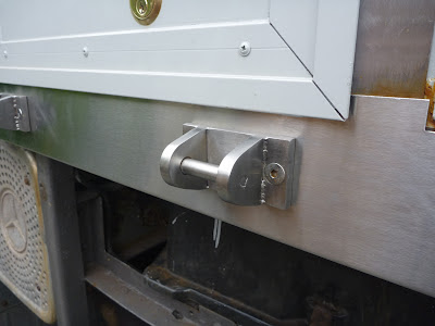 Stainless step brackets welded up by AT Hussey in New Southgate / Bounds Green
