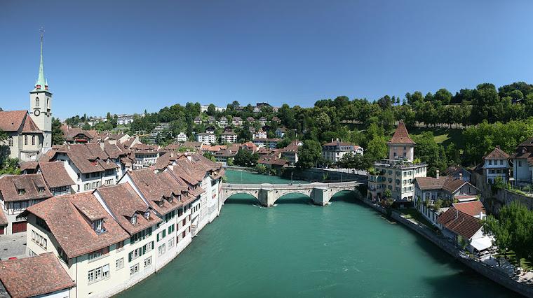 El río Aare en Berna, Suiza. Foto tomada de Wikipedia.