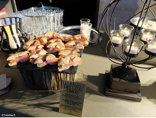 les bagels des cités livbres buffet catering expo Games of thrones Paris carrousel Louvre
