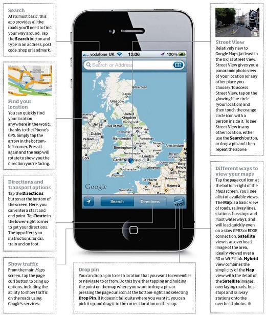 google maps instructions iphone