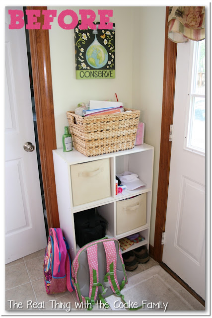Storage ideas and organizing ideas for an entry way or other small space with high traffic  #organization #entry #storage
