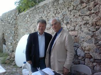 Με τον καθηγητή Χρήστο Γιανναρά στη Μονεμβασιά, τον Απρίλιο του 2012.