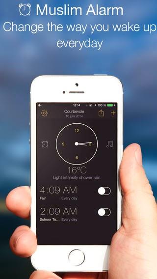 تطبيق منبه المسلم للتنبيه بمواعيد الصلاة في أوقاتها للأي فون والاي باد والاي بود Muslim Alarm Clock iOS