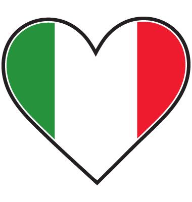 italian flag heart