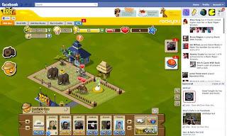 facebook game screen