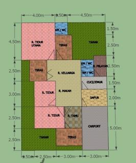 Desain Rumah Minimalis Modern 10x15