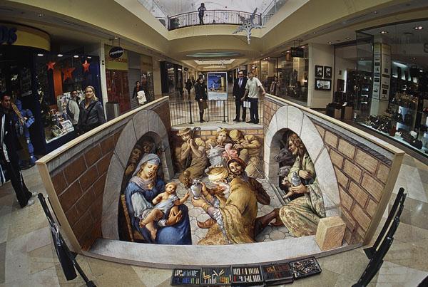 08-Nativity-Kurt-Wenner-3D-Street-Pavement-Art-Painting-www-designstack-co
