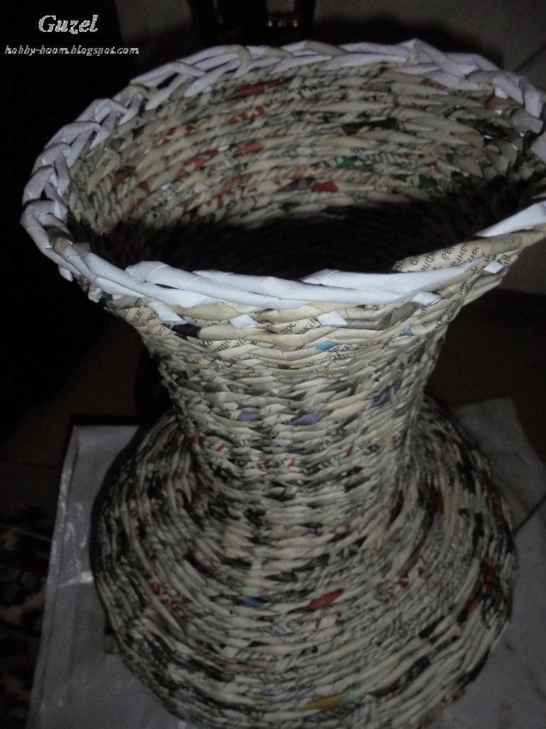 загибка в плетении вазы