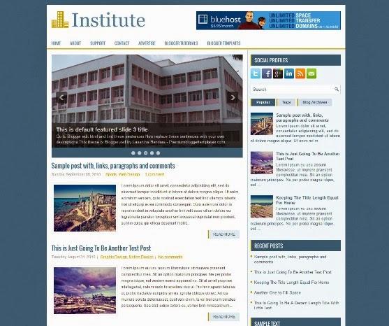 Institute Blogger Template