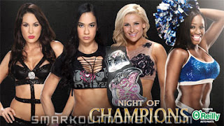 Watch WWE Night of Champions 2013 Divas Championship Match Online Results Odds Spoilers