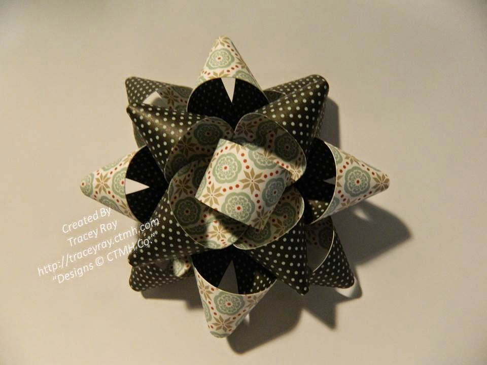 FREE TUTORIAL - PAPER GIFT BOW