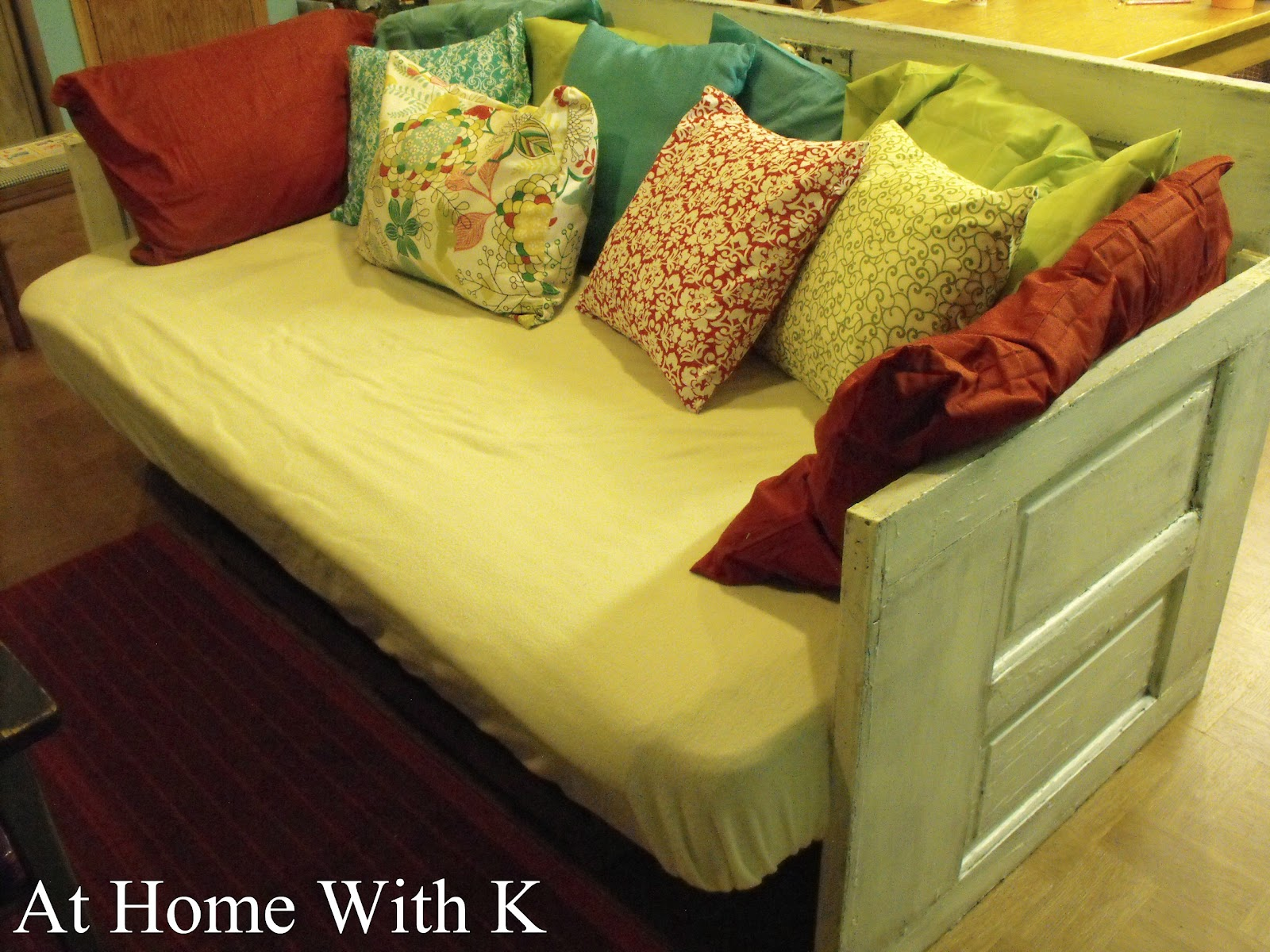& At Home With K: DIY Door Couch
