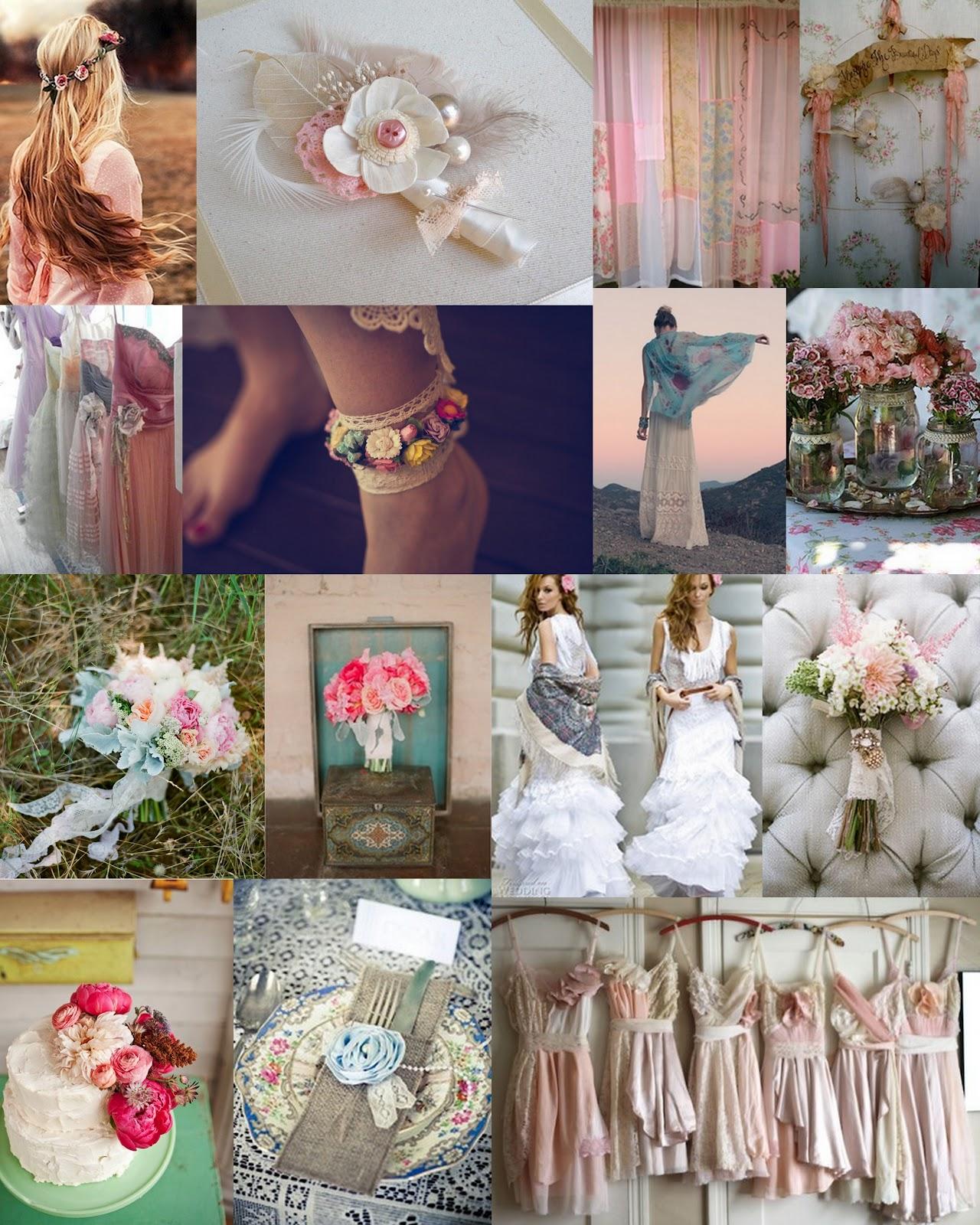 A Romantic Vintage Wedding Ideas For Weddings: GYPSY YAYA: Bohemian /Romantic/ Vintage Wedding Mood Board