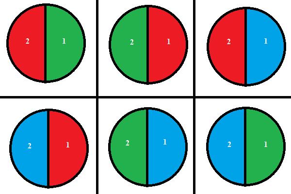2 sectors 3 colors