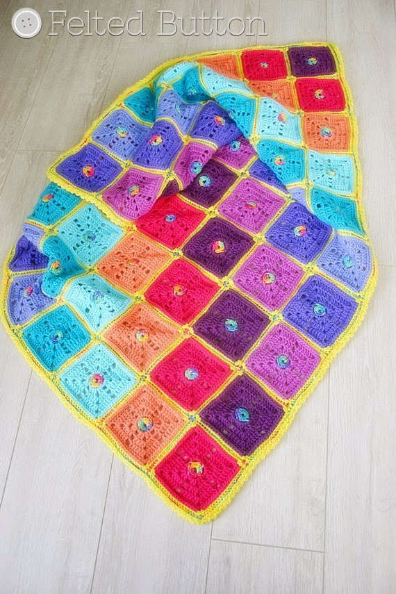 Squarilicious Blanket (crochet pattern by Susan Carlson of Felted Button)