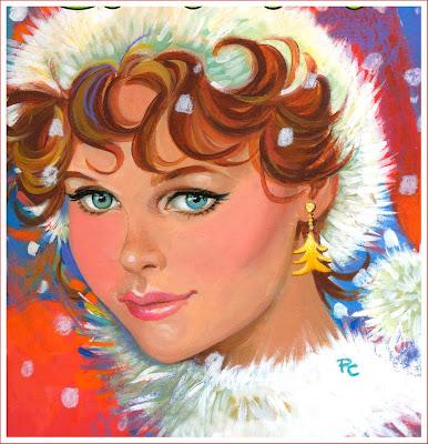 Navidad retro chica vintage