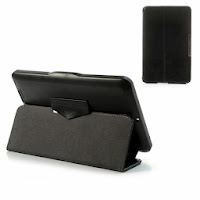 Folio Crazy Horse Leather Stand Case for ASUS Fonepad ME371 - Black