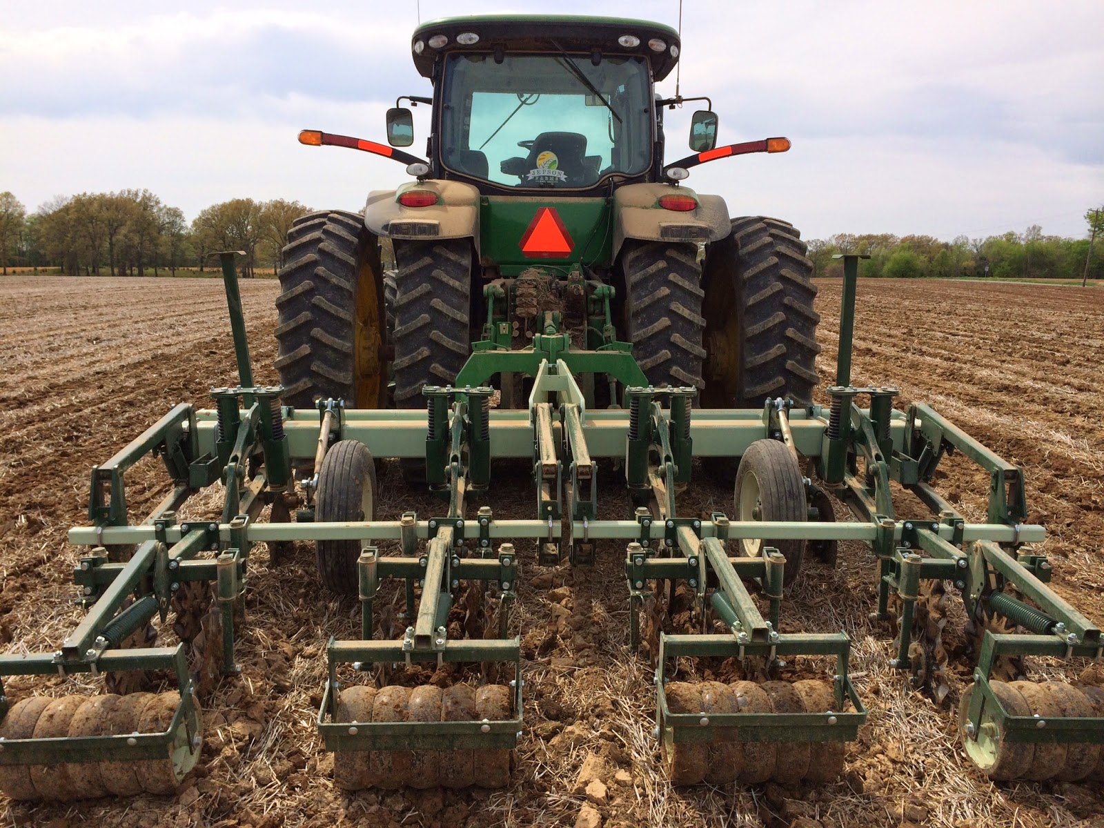 the strips are laid off using the ripper stripper machine pictured above this machine rips the ground about 2 feet deep this loosens the ground up