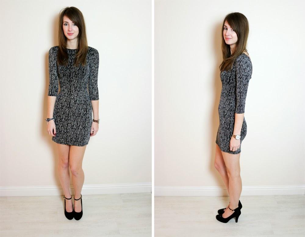 The Long Metallic Split Dress