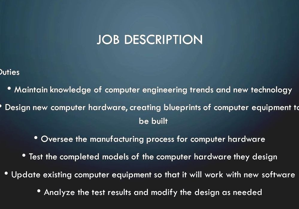 Computer Engineer Job Description | Computer Engineering Computer Hardware Engineer Job Description