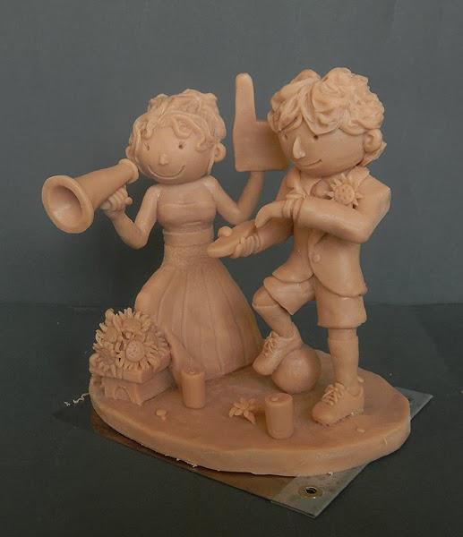 cake topper artistici artigianali scolpiti a mano personalizzati orme magiche