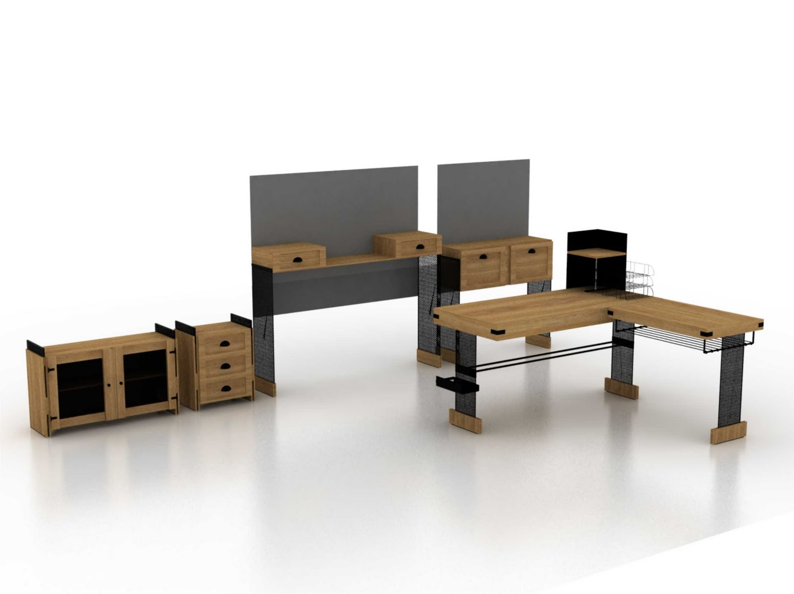 Portfolio di picardo luz mobiliario oficina hogare a for Mobiliario oficina diseno