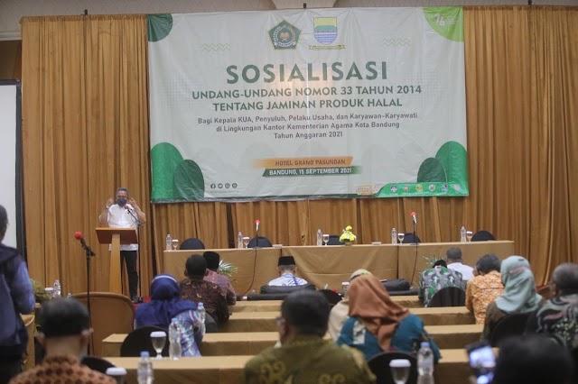 Pemkot Bandung Bersama Kemenag Sopsialisasikan Jaminan Produk Halal