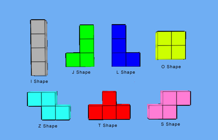 Tetris game design shapes ccuart Image collections