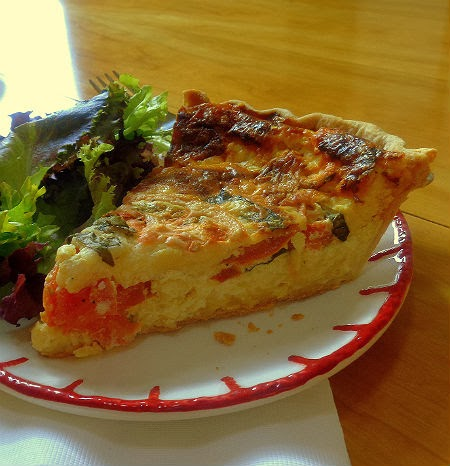 One Perfect Bite: Frugal Foodie Friday - Fresh Tomato and Basil Quiche