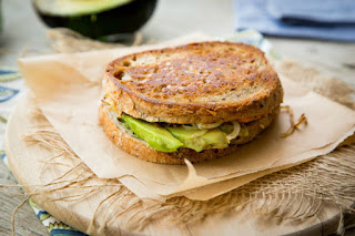 Avocado Pumpkin Panini {Vegan} #healthysandwichrecipes