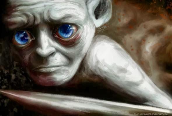 Angela Bermudez deviantart pinturas filmes cultura pop cinema Compaixão - Gollum
