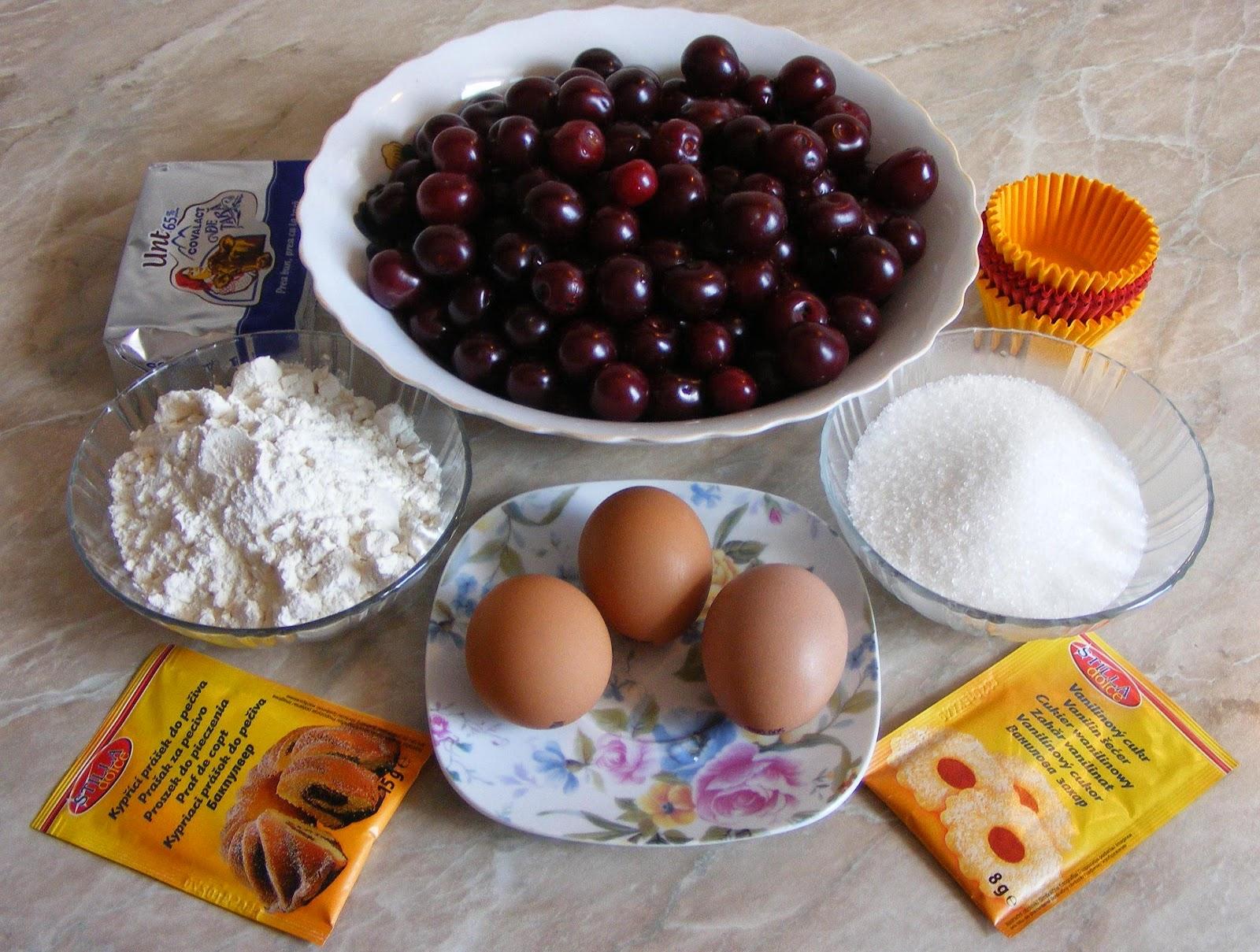 ingrediente briose, cum facem briose, cum se prepara briose, cum se fac briose, crema briose preparare, retete de briose cu visine, retete cu visine,