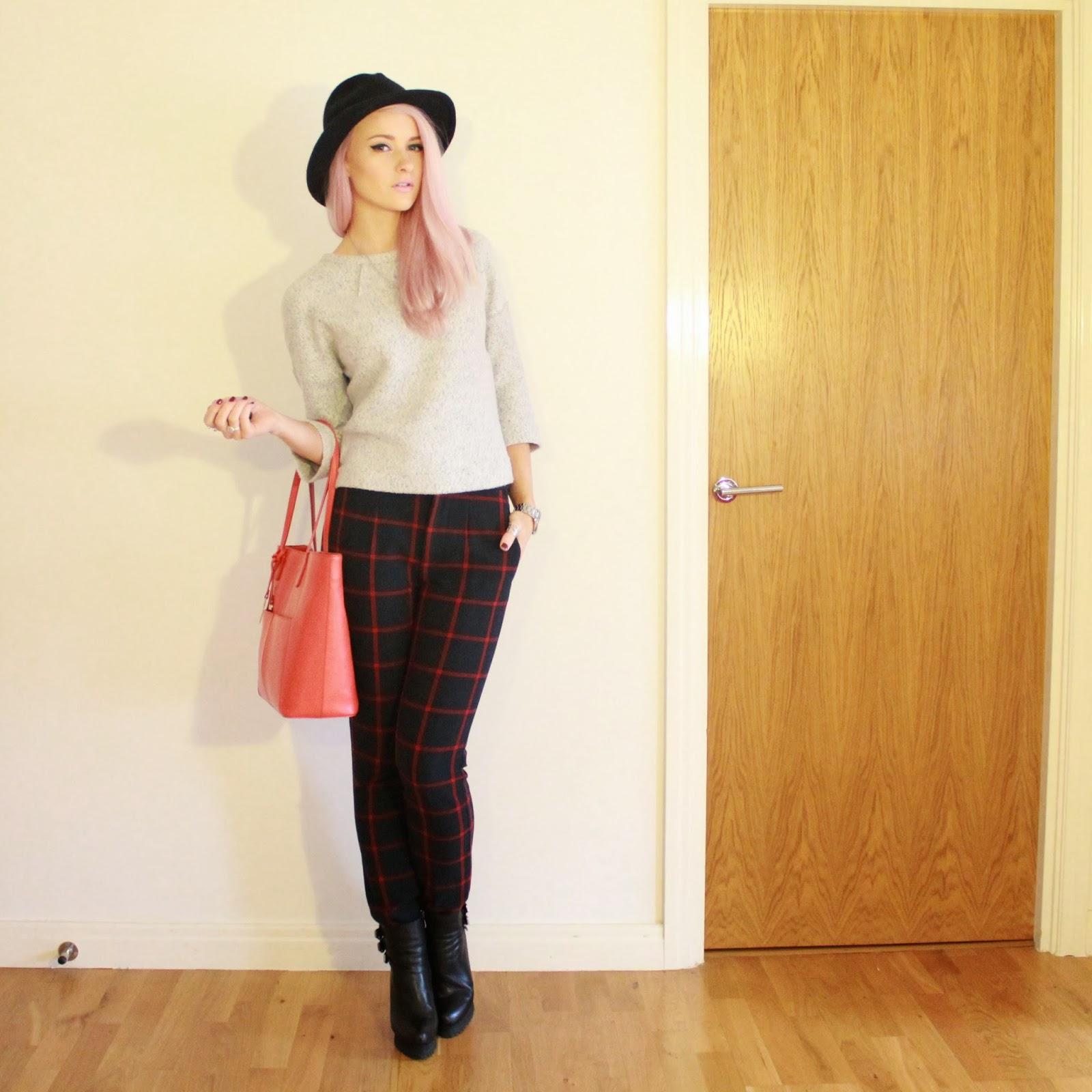 Zara Checked Trousers